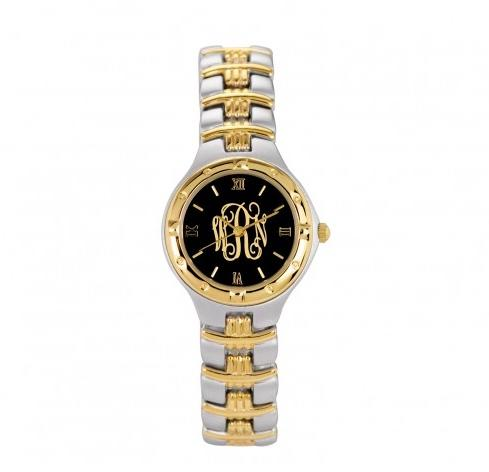 Monogrammed Watch Ladies in Two Tone Metal 26mm Monogrammed Watch Ladies in Two Tone Metal 26mm Apparel & Accessories > Jewelry > Watches