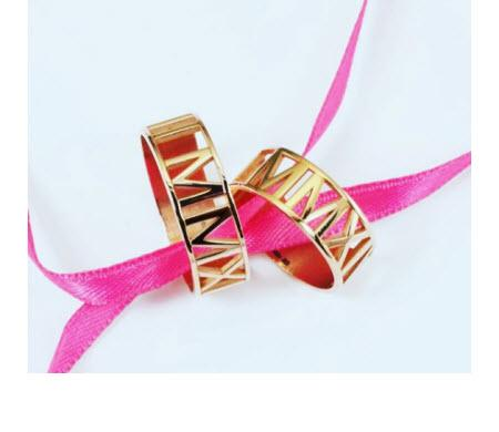 Personalized Ring with Roman Numerals in 10k Gold  Apparel & Accessories > Jewelry > Rings