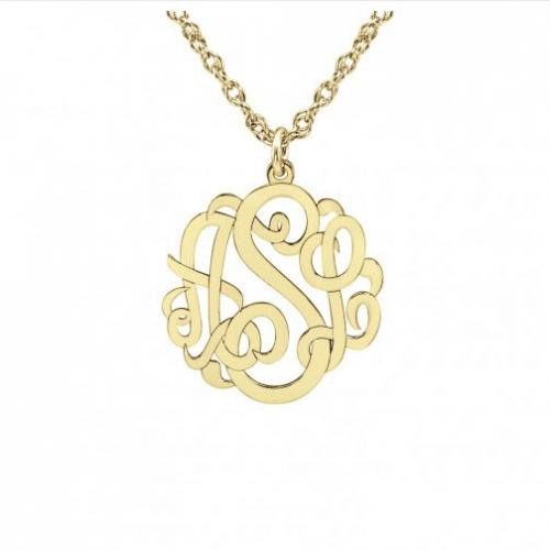 Petite Interlocking Script Necklace 10 mm   Apparel & Accessories > Jewelry > Necklaces