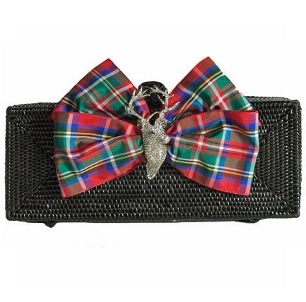 LRC Clutch Plaid Bow Stag  LRC Clutch Plaid Bow Stag  Apparel & Accessories > Handbags > Clutches & Special Occasion Bags