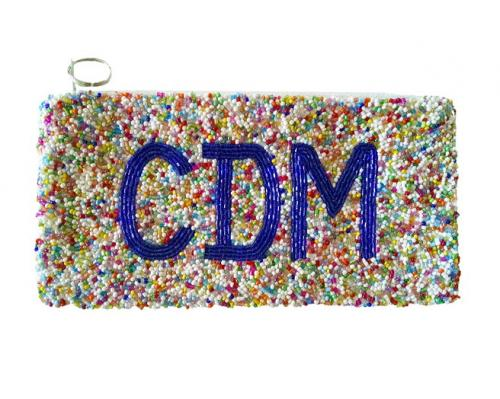 Multi Color Hand Beaded Personalized Clutch Cosmetic Bag  Apparel & Accessories > Handbags > Clutches & Special Occasion Bags