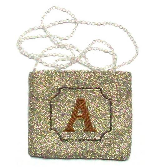 Hand Beaded Alphabet Monogram Evening Bag  Apparel & Accessories > Handbags > Clutches & Special Occasion Bags