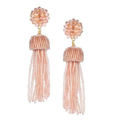 Lisi Lerch Clear Pink Tassel Earrings   Apparel & Accessories > Jewelry > Earrings