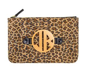 Leopard Harper Clutch with Interchangeable Monogram  Apparel & Accessories > Handbags > Clutches & Special Occasion Bags