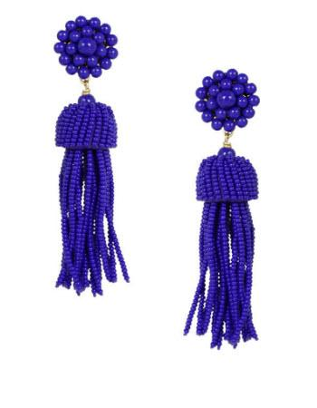 Lisi Lerch Royal Blue Tassel Earrings   Apparel & Accessories > Jewelry > Earrings
