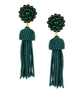 Lisi Lerch Hunter Green Tassel Earrings   Apparel & Accessories > Jewelry > Earrings