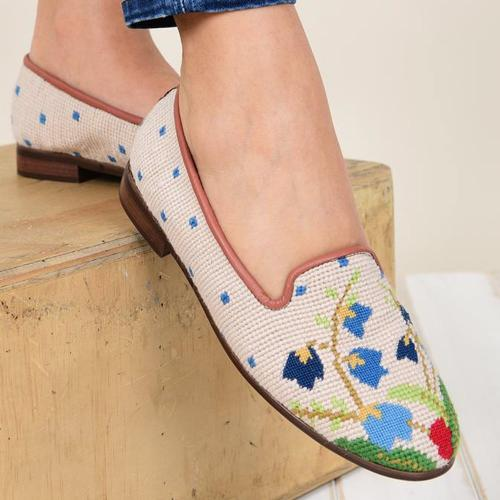By Paige Flower Bouquet Ladies Needlepoint Loafers   Apparel & Accessories > Shoes > Loafers