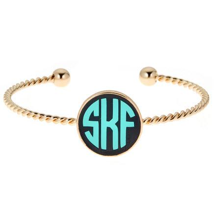 Monogrammed Gold Plated Lindsey Bracelet  Apparel & Accessories > Jewelry > Bracelets