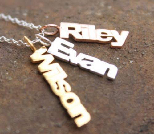 10 Karat Gold Mini Name Necklace- add all the kids names  Apparel & Accessories > Jewelry > Necklaces