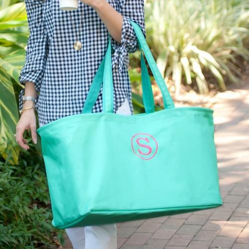 Personalized Mint Green Ultimate Tote  Luggage & Bags > Shopping Totes