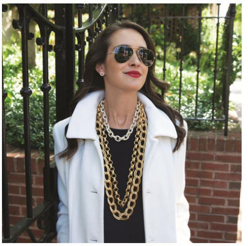 Ritz Crystal and Gold Link Necklace Ritz Crystal and Gold Link Necklace Apparel & Accessories > Jewelry > Necklaces