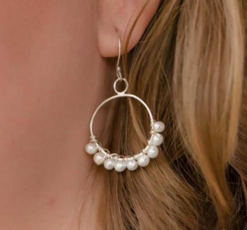 Cultured Pearl Small Hoop Earrings Cultured Pearl Small Hoop Earrings Apparel & Accessories > Jewelry > Precious Stones