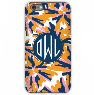 Monogrammed iPhone Case Fireworks Pattern  NULL