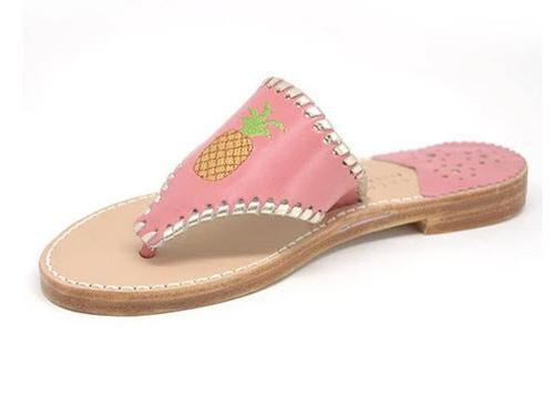 Pineapple Palm Beach Classic Sandals in Melon and Pale Gold  Apparel & Accessories > Shoes > Sandals > Thongs & Flip-Flops