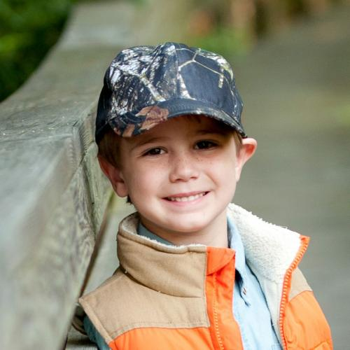 Child's Woods Camo Ball Cap with Personalization  Apparel & Accessories > Clothing Accessories > Baby & Toddler Clothing Accessories > Baby & Toddler Hats