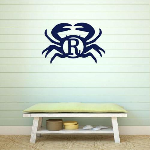 Wood Crab Monogram Personalize to Your Decor  Home & Garden