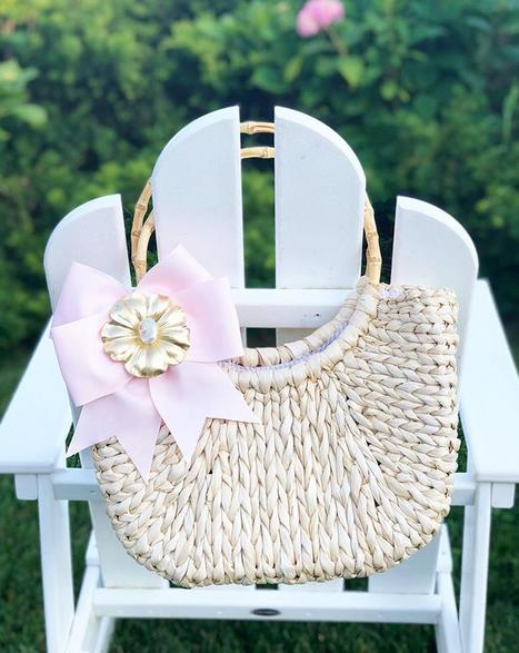 Half Moon Large Straw Tote  Apparel & Accessories > Handbags > Shoulder Bags