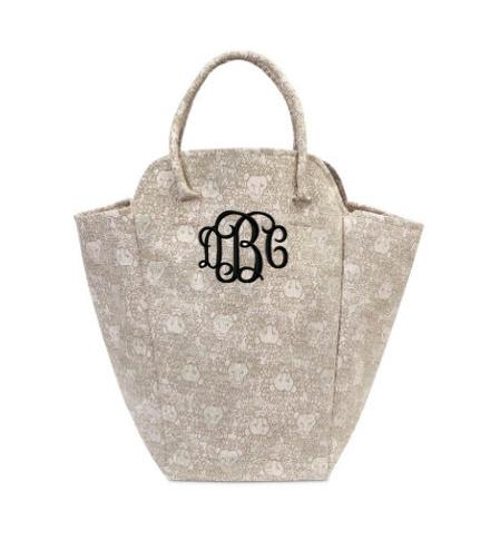 Monogrammed Lion EVA Laundry Tote in Khaki   Home & Garden > Household Supplies > Laundry Supplies > Laundry Baskets