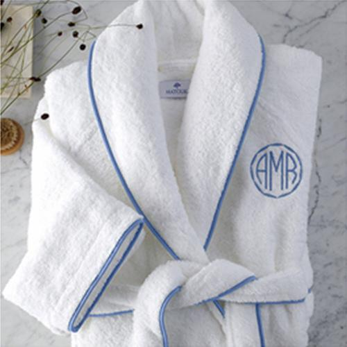 Matouk Cairo Robe with Monogram  Apparel & Accessories > Clothing > Sleepwear & Loungewear > Robes