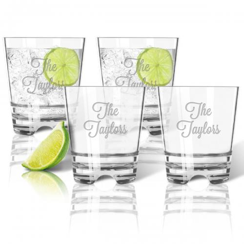 Personalized Tritan Double Old Fashioned  Set  Home & Garden > Kitchen & Dining > Tableware > Drinkware > Lowball Glasses