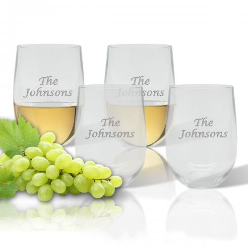 Personalized Tritan Stemless Wine Tumbler Set  Home & Garden > Kitchen & Dining > Tableware > Drinkware > Stemware > Wine Glasses