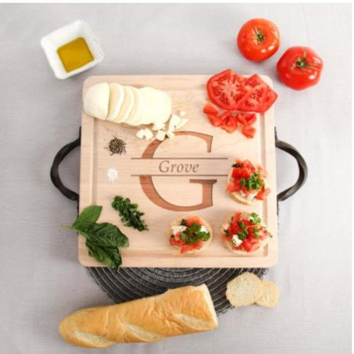 Personalized Serving Tray 9x12 Maple  Home & Garden > Kitchen & Dining > Kitchen Tools & Utensils > Cutting Boards