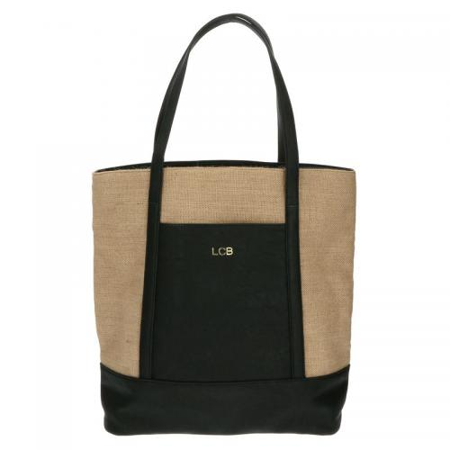 Monogrammed Black Sidestreet Tote Bag   Apparel & Accessories > Handbags > Tote Handbags