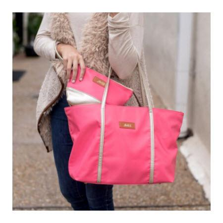 Monogrammed Pink Sophia Tote Bag   Apparel & Accessories > Handbags > Tote Handbags