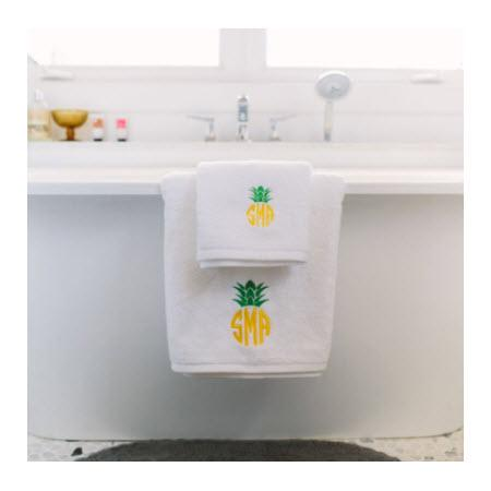 Monogrammed White Towel Set   Home & Garden > Bathroom Accessories