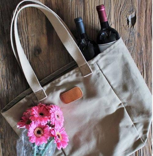 Jon Hart Personalized Khaki El Mercado   Apparel & Accessories > Handbags > Tote Handbags