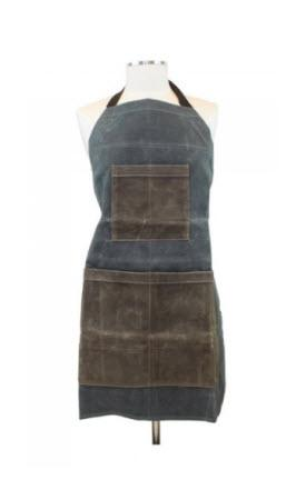 Personalized Slate and Olive Canvas Utility Apron   Apparel & Accessories > Clothing Accessories > Aprons