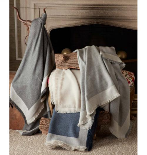 Matouk Suri Alpaca Throw Blanket with 6 Inch Monogram  Home & Garden > Linens & Bedding > Bedding > Blankets > Throws