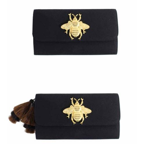 Black Foldover Clutch XL Motif  Apparel & Accessories > Handbags > Clutches & Special Occasion Bags