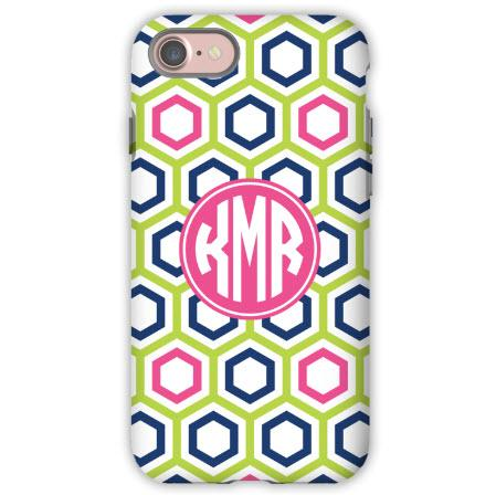 Personalized iPhone Case Maggie Lime & Navy  Electronics > Communications > Telephony > Mobile Phone Accessories > Mobile Phone Cases