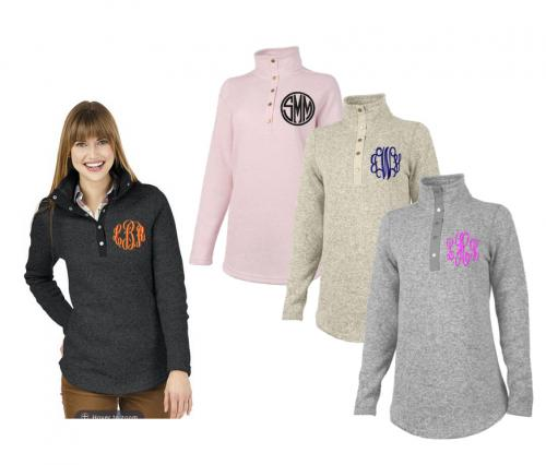 Monogrammed Tunic Sweater  Apparel & Accessories > Clothing > Shirts & Tops > Sweaters & Cardigans