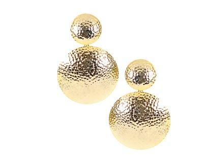 Lisi Lerch Hammered Gold Robin Earrings  Apparel & Accessories > Jewelry > Earrings