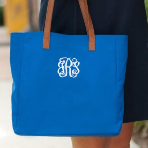 Monogrammed Royal Blue Everything Tote  Apparel & Accessories > Handbags > Tote Handbags