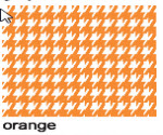 Houndstooth Orange
