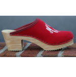 High Wooden Heel Natural Color
