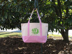 Buckhead Betties Medium Pink Canvas Tote