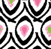 32-tribal Funk Pink And Green Pattern Color Stays