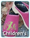 monogrammed clogs for children