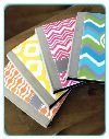 monogrammed foldover ipad cases in black and gray