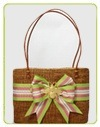 large oval bali bow with 3d motif bag