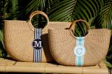 Queen Bea Monogrammed Shorty Florida Basket
