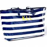 Monogrammed Wellie Market Tote In Stripes