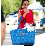 Personalized Royal Blue Scattered Dot  . . .