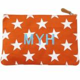 Monogrammed Stargazing Flat Canvas Pouch
