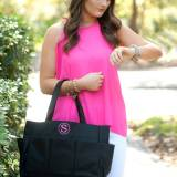 Personalized Black Carry All Tote