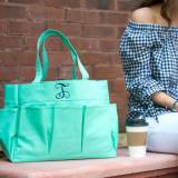 Personalized Mint Green Carry All Tote